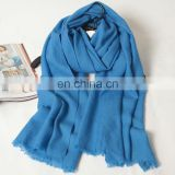 blue long pashminas for women