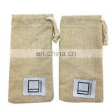 Custom Personalized Sunglasses Sleeve Sunglasses Cover Two Tone Cotton Jute Felt Microfiber Sunglasses Pouch
