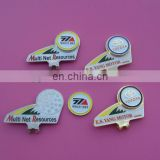unique shaped golf ball marker with cap clip set