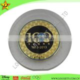 Acrylic paper weight souvenir with medal coin