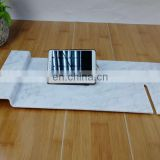 Acrylic hotel spa bath tray bathtub caddy tray table with phone holder rack