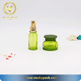 cosmetic glass cream bottle with plastic inner
