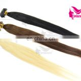 Best price good quality pre-bonded keratin human hair extension nail hair /U-tip hair