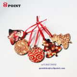 Fashion Festival adornment Wooden Custom Dye sublimation Printing Christmas tree ornament
