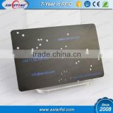 Debossed coloring and etching matte black business / name metal card, black stainless steel card (China Manufacturer)