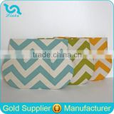 Personalized Best Bridesmaid Gift Bridesmaid Chevron Clutch Zig Zag Print Clutch Bag
