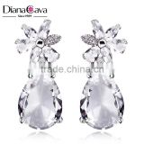New Gift Choice Big Clear Drop Crystal Top Quality CZ Gift Bridal Wedding Jewelry Earrings