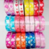 Valentine's Series Ribbon with Printing/Various Pattern Holographic Plastic Laminated Ribbon