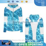 (OEM/ODM Factory)Custom breathable Fitness jackets women compression spandex polyester hoodies tights ladies sexy jackets