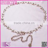 Fashion Rhinestones Studded Slim Simple Casual Decorate Belt Lengthen Chain Rhinestones Studded Belt