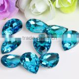 Turquoise Wholesales Point Back Loose Shapes Teardrop Crystal Glass Beads for Jewelry Cloth Phone Decorating Cheap