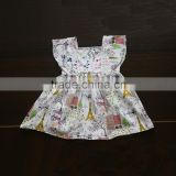 Newest style girls dress high quality fashion floral dress girl baby girl birthday dresses
