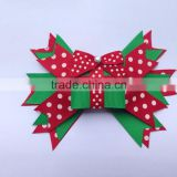 New style children christmas Hair Bow boutique large hair Bow With Clip for christmas gift CB-3388