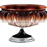 Creative fruit bowl fashion lead-free glass crystal bowl European fruit basin candy dishes dry fruit compote ZX