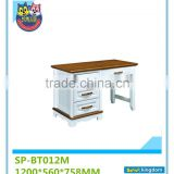 Modern style office furniture wood computer desk design for two desktop computer and for tv#SP-BT012M