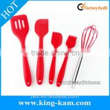 5in1 silicone utensil set for kitchen cooking tool