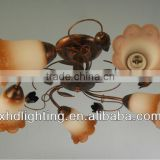 hot sell russia ceiling lamp glass flower chandelier for hotel /bedroom lighting fxiture