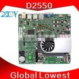Cheap industrial computer D2500 Desktop Board Touch screen Mini PC XCY X-24X with 2GB Ram 32GB SSD can OEM