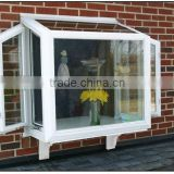 vinyl garden windows for sale,PVC window in Guangzhou factory                                                                         Quality Choice
