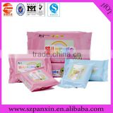 China factory custom printing vivid facial tissue aluminum foil wet wipe bag