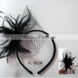 wholesale fashion hair accessories newest hair headband hairband lace for women adult black feather lace front hair band