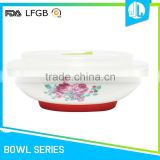 FDA & LFGB ceramic silicone cheap mixing bowl set
