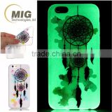 Colorful drawing glow in the dark soft TPU Cell phone case For iphone 5 se