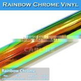 Air Bubble Free 1.35*20m CARLIKE Chrome Rainbow Color Vinyl For Car Wrapping
