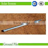 Ground solar mounting system Helical Ground Screw Piles for Foundation of Solar Photovoltaic Brancket Spiral Post