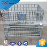 Heavy duty foldable industrial stackable wire mesh steel storage containers                                                                                                         Supplier's Choice