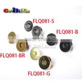 Dia.18mm 4 Color For Pick Magnetic Snap Fasteners Clasps Buttons For Handbag Bags #FLQ081(Mix)                                                                         Quality Choice