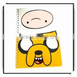 2016 custom printed four lined paper line notebook