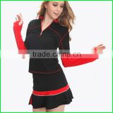 Sexy fashion women Volleyball Jersey or Tennis Wear and Badminton Jersey suit with factory prices made in China