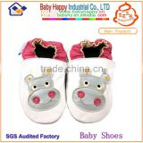 wholesale assorted color animal pattern soft sole fancy genuine leather baby leather shoes