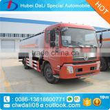 DongFeng 153 series 15000L 4X2 mobile tanker oil truck, fuel tanker truck dimensions, mobile refueling truck
