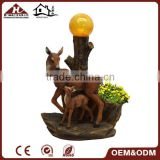 deer statue solar garden ball light with flower pot                                                                         Quality Choice
