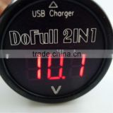 5V 2A USB output Red LED Digital Tube Digital Volt meter Monitor