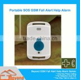 Wireless Portable GSM Help Alarm fall alert alarm gsm auto alert fall detection medical life sos alarm for elderly