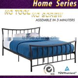 Modern Design Cheap Platform metal Bed frame Queen Double