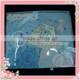 2012 newest 100% cotton baby gift set basket