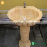 natural stone pedestal sink bathroom pedestal sink                                                                                                         Supplier's Choice
