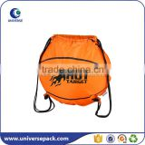 Reusable custom basketball backpack bags with drawstring and logo
