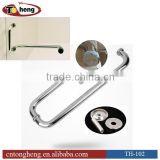 Polished Stainless Steel Double Sides Dia 25mm Tubing Shower Pull Handle and Towel Bar Combo