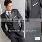 2014 spring coming style !!! Two button notch lapel with satin grey color coat pant men tuxedo suit
