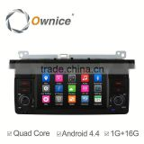 Capacitive screen Quad core Android 4.4 car multimedia system FOR BMW E46 330 with 1G RAM 16G rom steering wheel