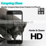 high premium 0.15mm corning gorilla anti blue ray tempered glass screen protector for iphone 6 6s