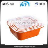 Multifunctional Hot Sale wholesale square food grade plastic bucket with high quality