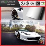 Metallic Pearl white Matte bubble free car wrap for stretchable Pearl white satin chrome vinyl sticker 1.52*20m