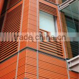 Adjustable Terracotta louver, Fixed Louver outside of glass wall, Exterior Curtain Wall Facade Terracotta Baguette Stick