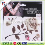 2016 Best Quality Reasonable Price customized beautiful rose flower Non-toxic skin temporary tattoo sticker